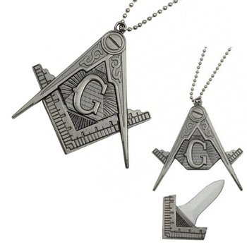 Masonic  Necklace With Hidden Knife