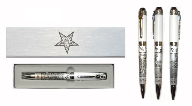 Masonic Ballpoint Pen Gift Box White