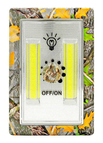 Camouflage LED Light Dimmer Switch Night Light Wall Mount