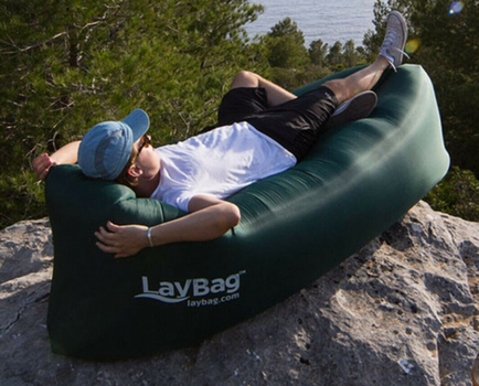 LayBag Inflatable Air Lounge, Tan; MSRP: $69.99
