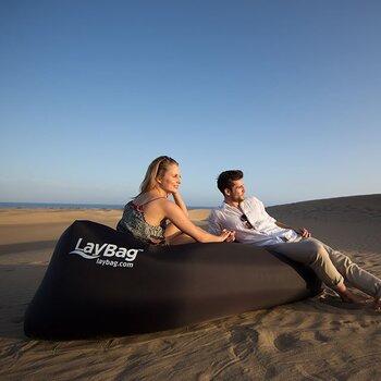 LayBag Inflatable Air Lounge, Black ; MSRP: $69.99