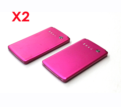 2 Compact Portable Power Chargers