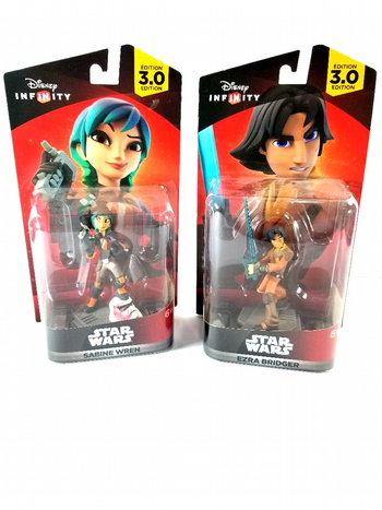 2 Disney Infinity 3.0 Star Wars Sabine Wren And Erza Bridger Universal Character Action Figure