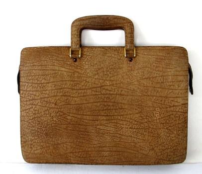 Vintage Embossed Leather Briefcase