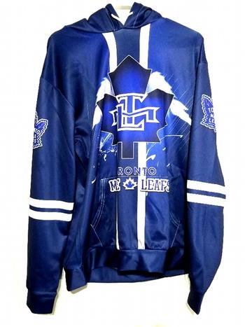Unisex 3D Graphics NHL Toronto Maple Leafs Hoodie Size M