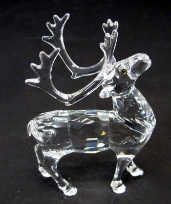 Swarovski Reindeer Crystal Figurine
