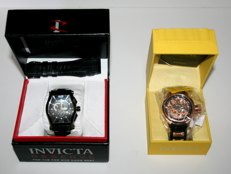 Special 2 New Authentic Invicta Men's Watches / Gift Box Retail $1499