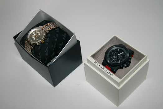 Set of Two Authentic Watches BULOVA & MICHAEL KORS, Retail $1199