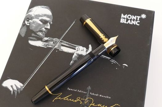 Montblanc Yehudi Menuhin Donation Series Fountain Pen - 18K Gold Nib - Limited Edition 2000
