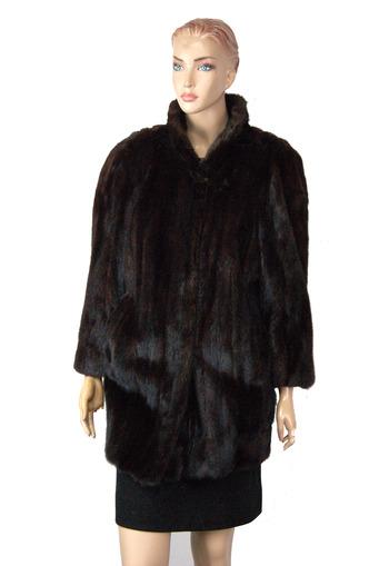 Dark Mahogany Color Mink Jacket - Size M - $3250.00 Cold Storage Value