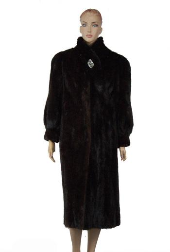 Full Length Dark Mahogany Mink Coat - Size M - $4500.00 Cold Storage Value