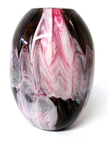 Vintage Heavy Art Glass Vase