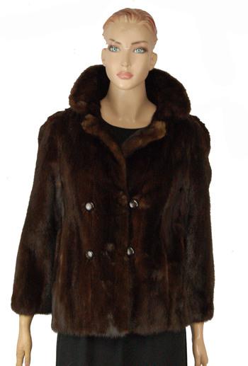 Dark Brown Color Mink Jacket - Size S/M - $2,950.00 Cold Storage Value