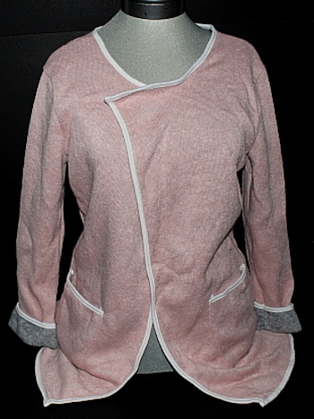 NWT Helcarch Brand Pink Grey Womens Open Front Sweater or Coat S