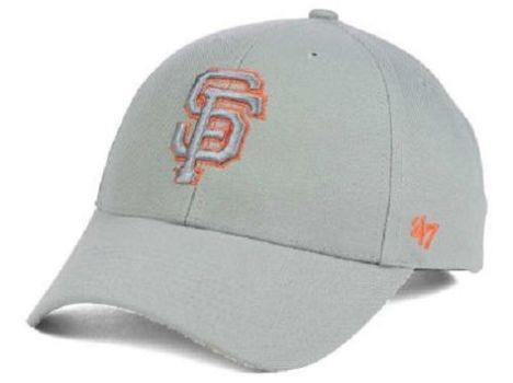 NWT San Francisco Giants MLB Gray TC Pop 47 MVP Cap
