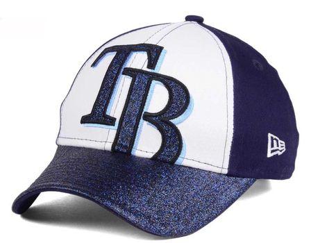 NWT Tampa Bay Rays MLB Youth Shimmer Shine Adjustable Cap