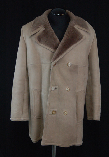 Men's Hazel Color Double Breasted Sheepskin Coat - $1500.00 Value