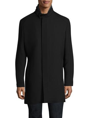 New w/tag Mens Strellson Zamora Stand-Collar Raincoat, 44