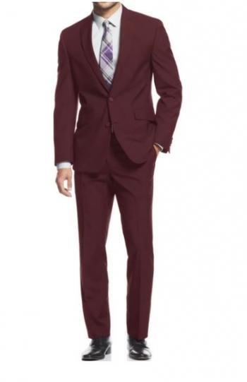 Braveman Men's Burgundy Slim-Fit Suit (2-Piece), Size: 40R MSRP: $652.99