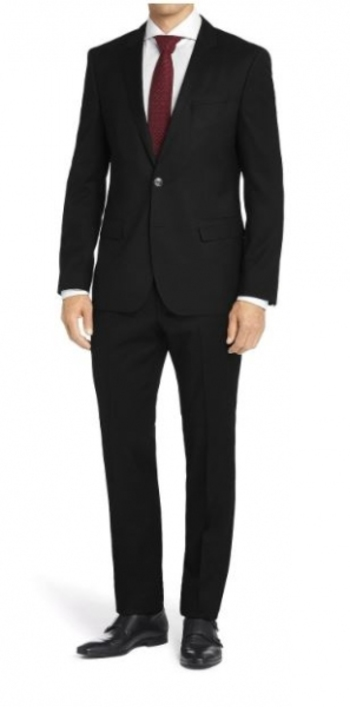 Braveman Men's Black Slim-Fit Suit (2-Piece), Size: 40R MSRP: $652.99