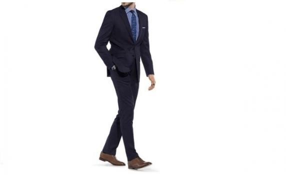 Braveman Men's Navy Slim-Fit Suit (2-Piece), Size: 48L MSRP: $652.99