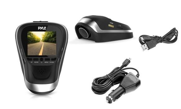 Pyle Hi-Res 1080p Dash Cam HD Dashboard Car DVR Driving Camera System MSRP: $266.99