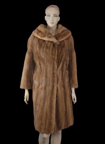 Christian Dior Chestnut Color Mink Coat - Size M - $9,000.00 Cold Storage Value