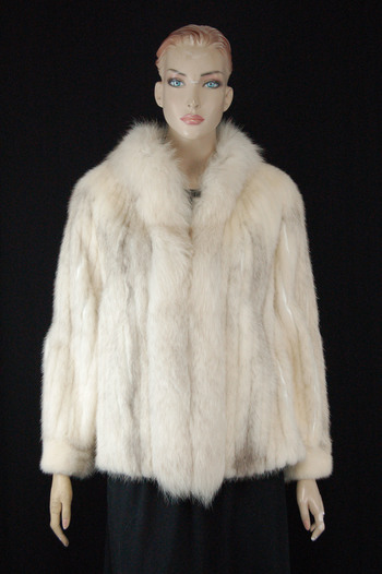 Fox Fur and Leather Jacket - Size M - $3,250.00 Cold Storage Value