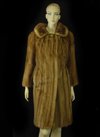 Women's Chestnut Color Mink Coat - Size S/M - $2,999.00