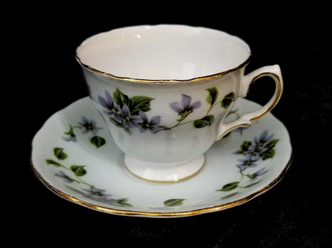 Vintage Cololough English Bone China Tea Cup and Saucer