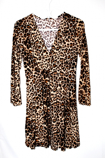 Ladies Leopard Print Dress M