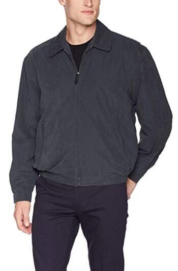 London Fog Men's Micro Golf Jacket, Navy, Size Small