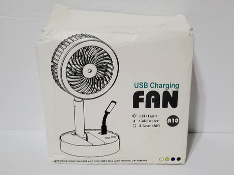 Cold Water USB Charging Adjustable Fan With LED Light