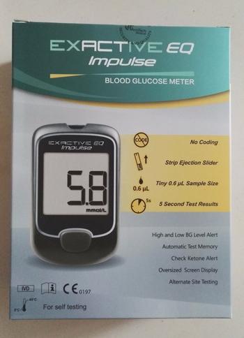 Exactive EQ Impulse Glucometer Blood Glucose Meter