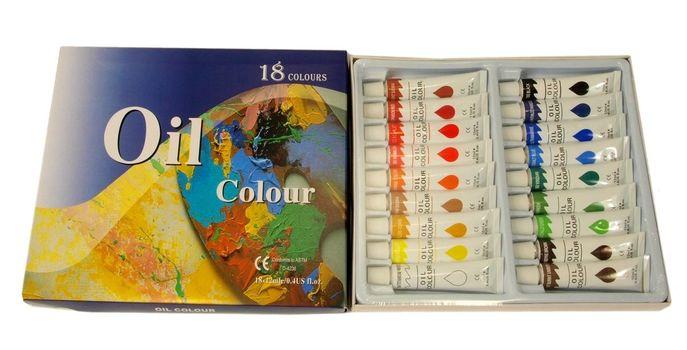 Oil Colors Paints 18 Tubes 12 ml Rainbow Pigments