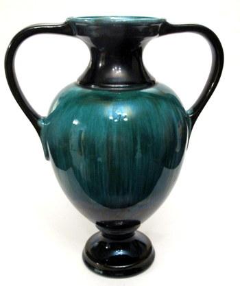 RARE Original Blue Mountain Pottery Large Two Handle Urn Vase