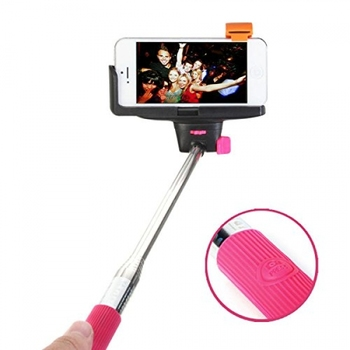 """Lot Of 10 Travelocity Connect & Shoot SELFIE STICK 43"""" Extension and Built-in Selfie Button"""