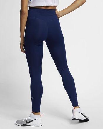 Ladies Nike High Rise Leggings Dark Blue Size S