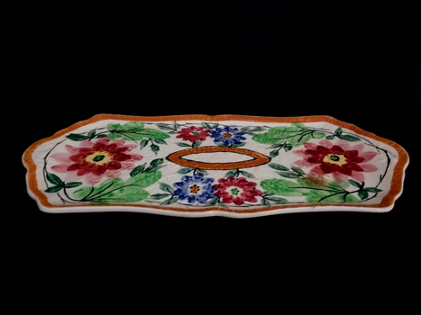Vintage Hand-painted Porcelain England Tray