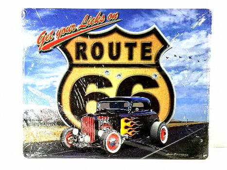 Get Your Kicks on Route 66 Metal Sign