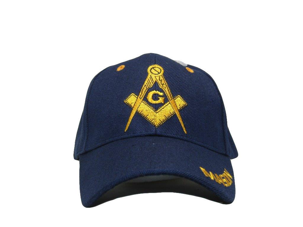 Blue and Gold Mason Masons Freemason Masonic Lodge Ball Cap Hat ... 76481559511