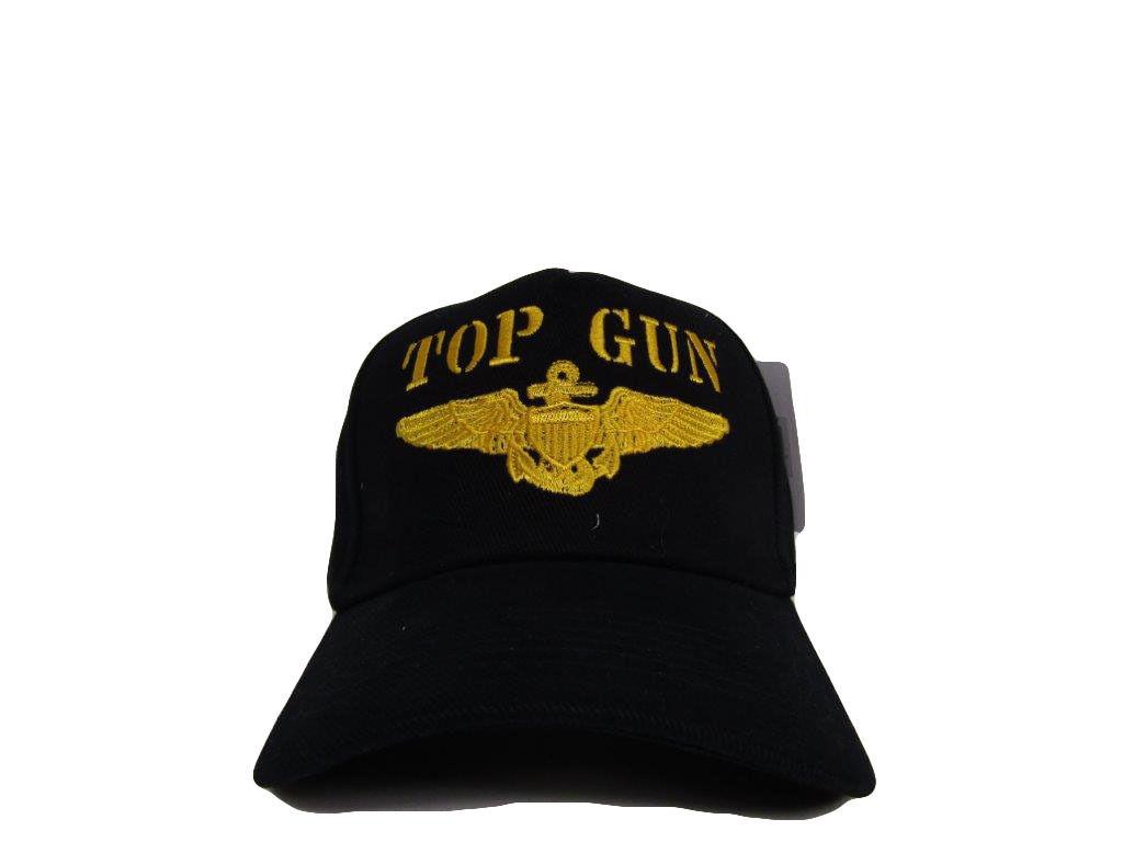 60808471c90 Embroidered Black Military US Navy Top Gun Baseball Ball Hat Cap 3D Tom  Cruise