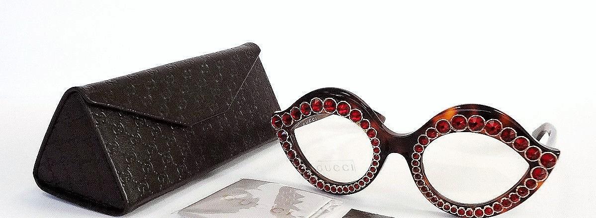 eeff4fc32e964 GUCCI Women s Glasses LIPS CAT EYE Havana MADE IN ITALY