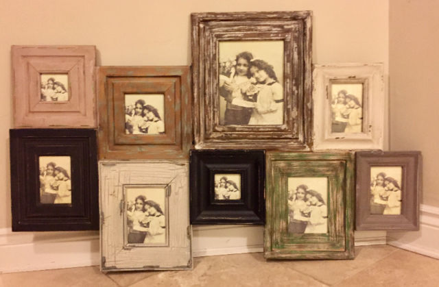 New Distressed Wood Shabby Chic Multi Frame Collage Property Room