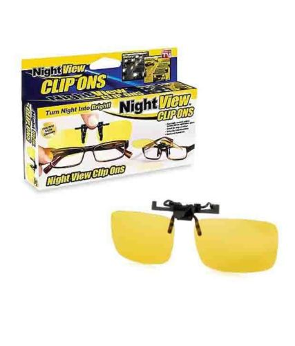 Image 1 of 3. NightView Clip On Glasses! As Seen On Tv! ...