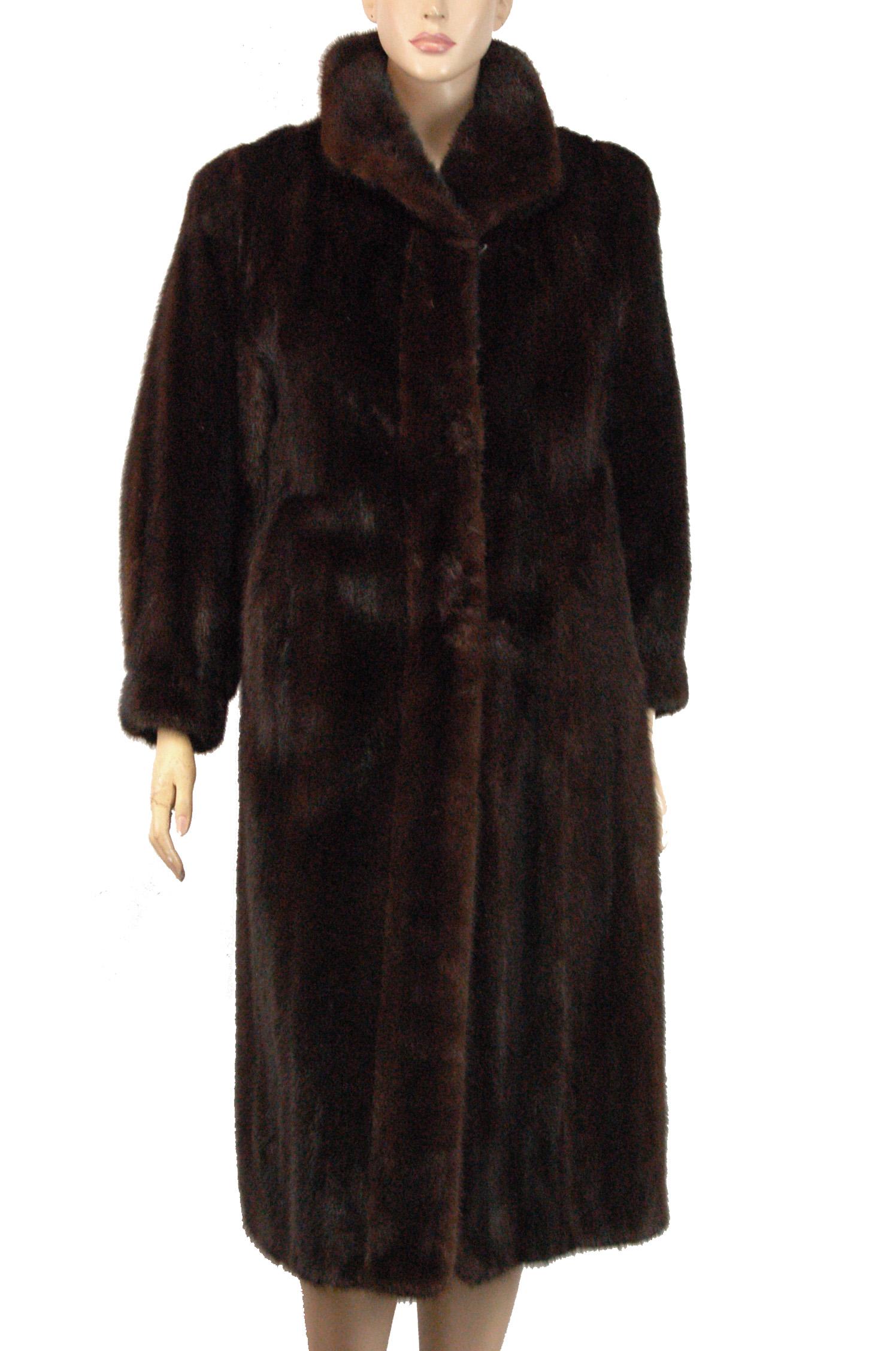 8e9f52018 Image 1 of 7. Women's MINK ! Full Length Dark Mahogany Fur Coat ...
