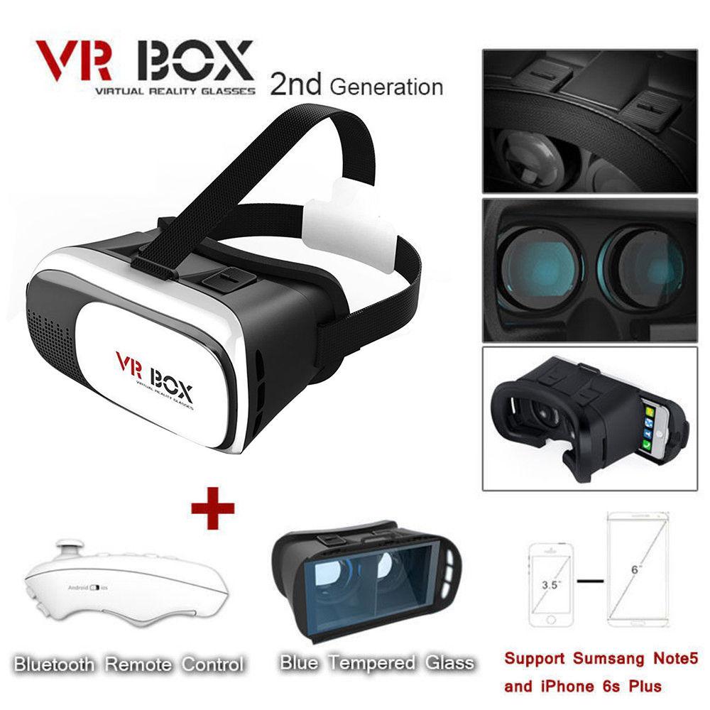 Virtual Reality VR Headset VR BOX 2.0 Goggles 3D Glasses Cardboard Remote  New 0ae3a8e139