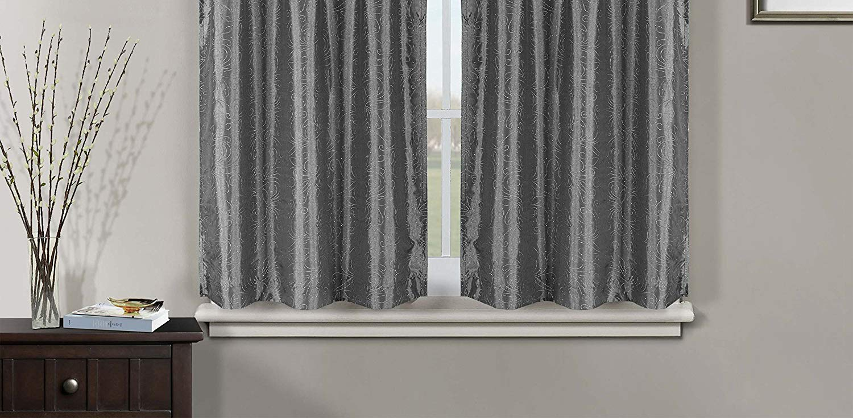 Duck River Textile Minka Fl Kitchen 3 Piece Window Curtain Tier And Valance Set 2 28 X 36 One 56 16 Metal