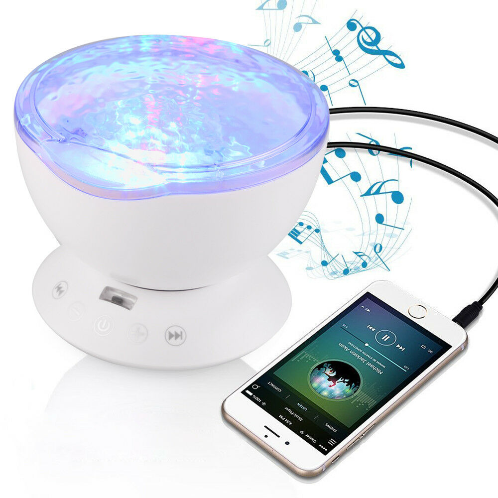 Romantic Ocean Waves Projector Light 7 Color LED MP3 Music