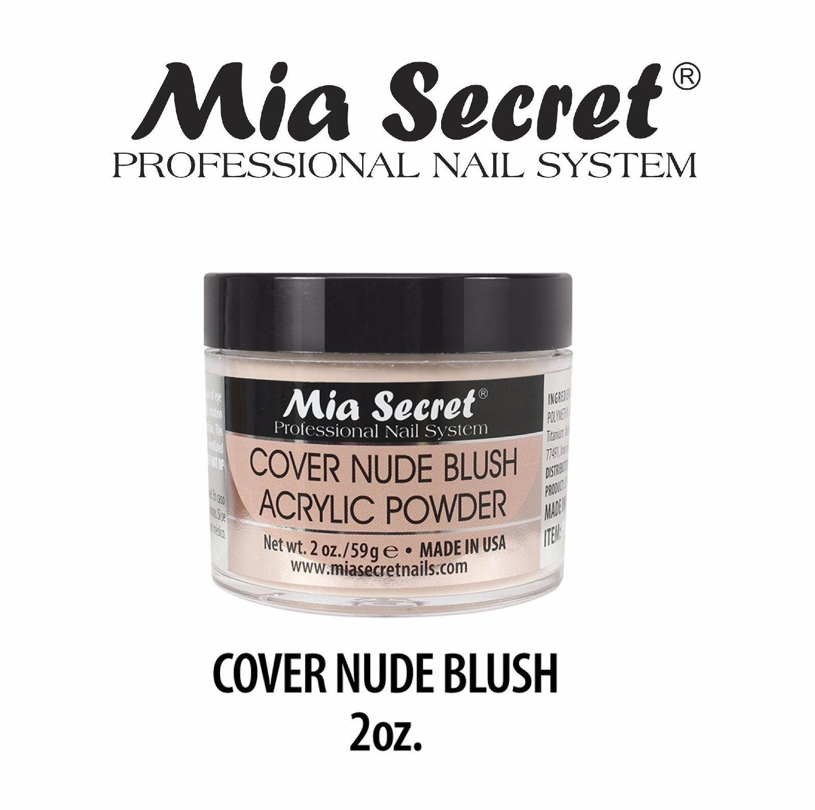 An Image Relevant To This Listing Mia Secret Cover Blush Acrylic Powder 2 Oz Nail Professional System